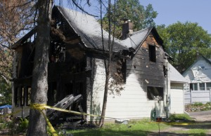 Fire Damage in Single Family Home