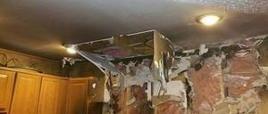 Fire Damage In Kitchen