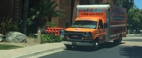 Water Damage and Mold Removal Truck At Commercial Job Location
