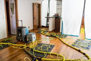 Drying And Dehumidifying Services During A Flood Cleanup Job - Water Damage Restoration